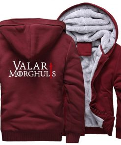 Men s Hoodies 2018 Fashion Casual Streetwear Thick Sweatshirts Harajukju Valar Morghulis Hoodie For Men Game 2