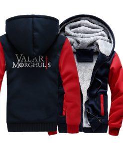 Men s Hoodies 2018 Fashion Casual Streetwear Thick Sweatshirts Harajukju Valar Morghulis Hoodie For Men Game