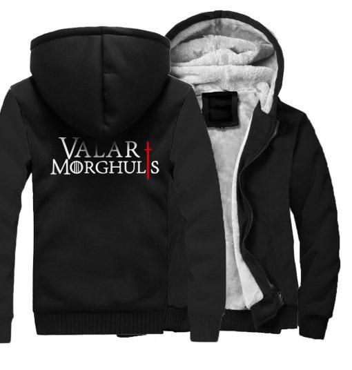 Men s Hoodies 2018 Fashion Casual Streetwear Thick Sweatshirts Harajukju Valar Morghulis Hoodie For Men Game 3