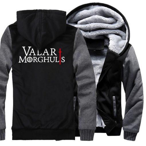 Men s Hoodies 2018 Fashion Casual Streetwear Thick Sweatshirts Harajukju Valar Morghulis Hoodie For Men Game 4
