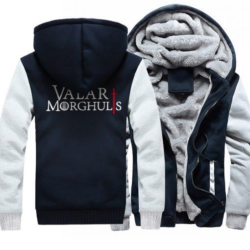 Men s Hoodies 2018 Fashion Casual Streetwear Thick Sweatshirts Harajukju Valar Morghulis Hoodie For Men Game 5