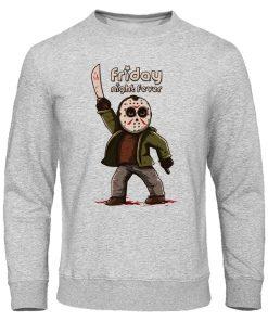 Men s Hoodies Friday the 13th Horror Prison Autumn Hoodie Hip Hop Sweatshirt Jason Voorhees Pullover 1