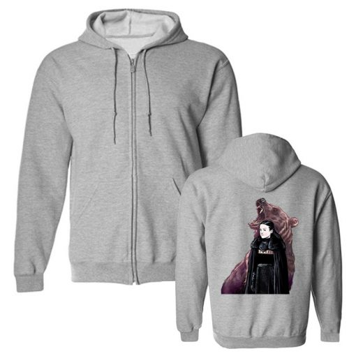 Men s Hoodies Game Of Thrones Lady Mormont Badass The North Remembers Artwork Awesome Zipper Fleece 3