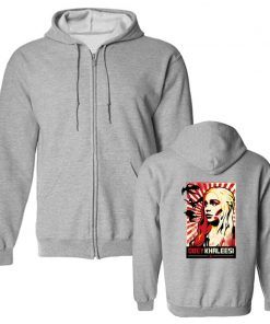 Men s Hoodies Khaleesi Daenerys Targaryen Mother Of Dragon Game Of Thrones Hooded Cool Fleece Sweatshirt 1