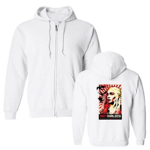 Men s Hoodies Khaleesi Daenerys Targaryen Mother Of Dragon Game Of Thrones Hooded Cool Fleece Sweatshirt 2