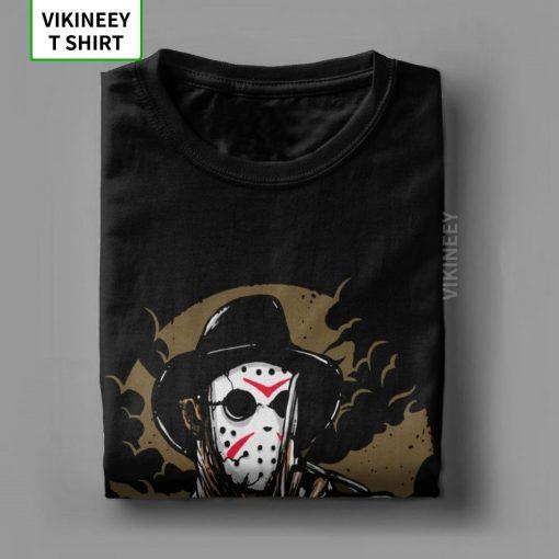 Men s T Shirts Freddy Vs Jason Funny Cotton Tees Customize Horror Movie Halloween Scary Friday 4