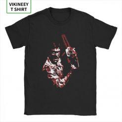 Men s TShirt 1981 s Evil Dead Cotton Tee Shirt Short Sleeve Horror Movie Scary Friday 2
