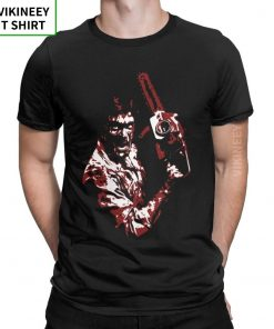 Men s TShirt 1981 s Evil Dead Cotton Tee Shirt Short Sleeve Horror Movie Scary Friday