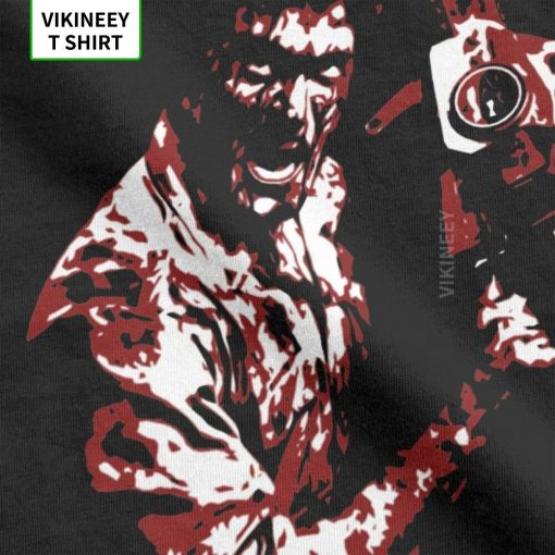 Men s TShirt 1981 s Evil Dead Cotton Tee Shirt Short Sleeve Horror Movie Scary Friday 3