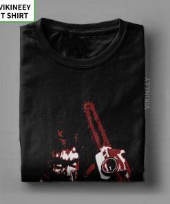 Men s TShirt 1981 s Evil Dead Cotton Tee Shirt Short Sleeve Horror Movie Scary Friday 4