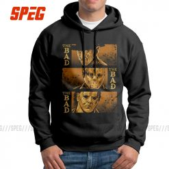 Men s The Bad Friday The 13th Hoodies Michael Myers Texas Chainsaw Massacre Horror Clothes Printed