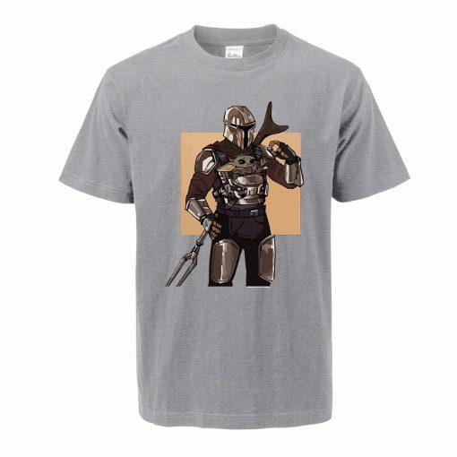 Men s Tshirt Baby Yoda Figure The Mandalorian Hip Hop Oversized Yoda T Shirt Summer Casual 1