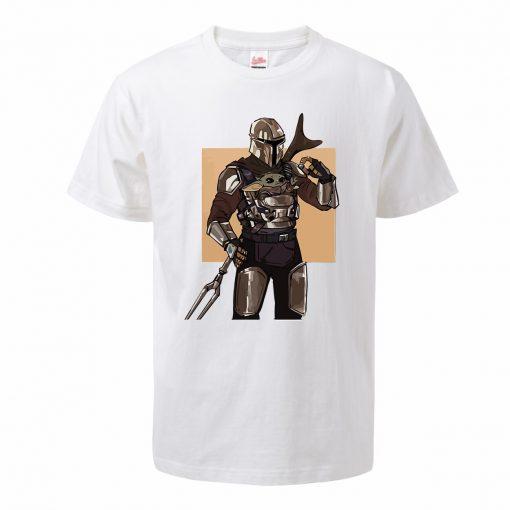 Men s Tshirt Baby Yoda Figure The Mandalorian Hip Hop Oversized Yoda T Shirt Summer Casual 2