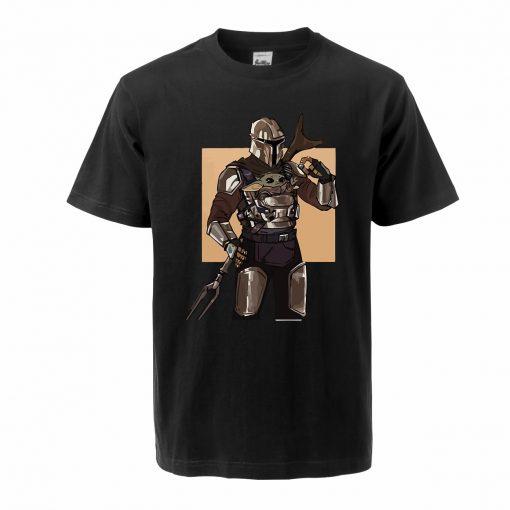 Men s Tshirt Baby Yoda Figure The Mandalorian Hip Hop Oversized Yoda T Shirt Summer Casual
