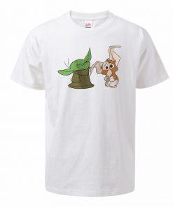 Men s Tshirt The Mandalorian Child Yoda Hip Hop Oversized T Shirt Summer Cotton Baby Yoda 2