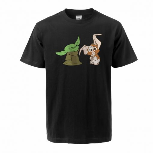 Men s Tshirt The Mandalorian Child Yoda Hip Hop Oversized T Shirt Summer Cotton Baby Yoda