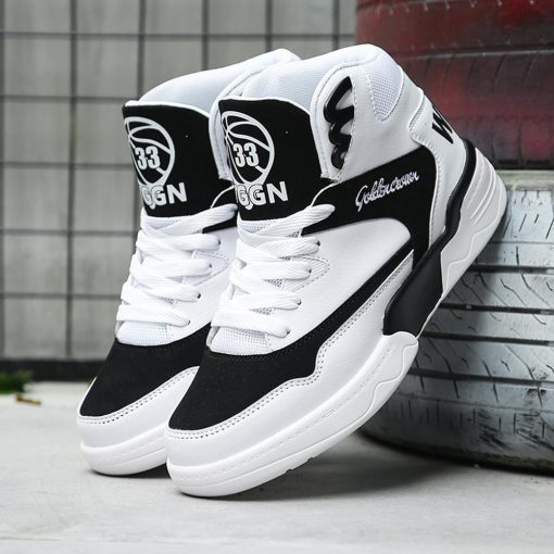 Men s sneakers basketball sneakers breathable high top sneakers non slip wear resistant sneakers basketball shoes 2