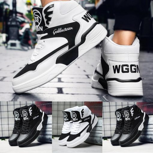 Men s sneakers basketball sneakers breathable high top sneakers non slip wear resistant sneakers basketball shoes