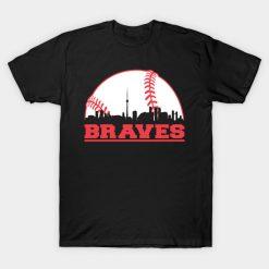 Men t shirt Braves Baseball Skyline Atlanta T Shirt tshirt Women t shirt