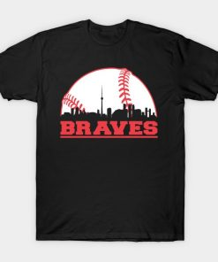 Men t shirt Braves Baseball Skyline Atlanta T Shirt tshirt Women t shirt