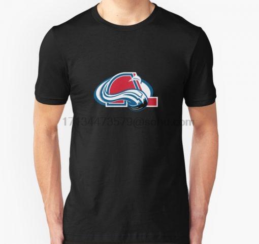 Men t shirt Short sleeve Colorado Nordiques Quebec Avalanche Unisex T Shirt Women t shirt tee