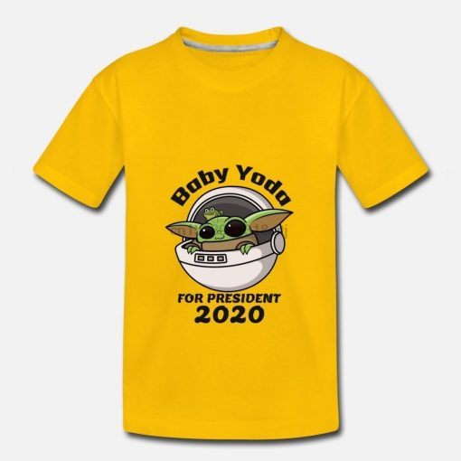 Men t shirt baby yoda for president 2020 1 Women tshirts