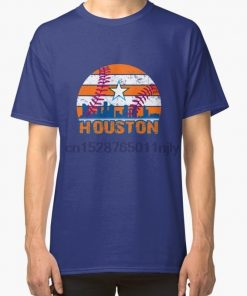 Men tshirt Houston Baseball Vintage Throwback Retro Astro Stripe 2019 Classic T Shirt 1 Printed T