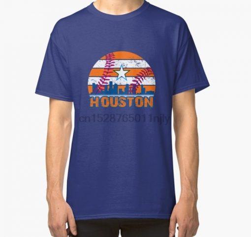 Men tshirt Houston Baseball Vintage Throwback Retro Astro Stripe 2019 Classic T Shirt 1 Printed T