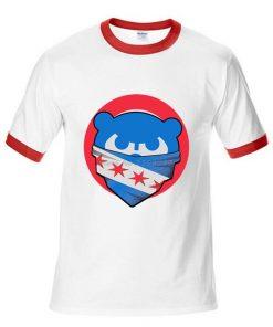 Mens Chicago T Shirt Cubs 100 Cotton Raglan Sleeve T shirt Chicago Flag Fashion Short Sleeve 3