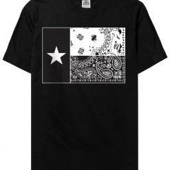 Mens Dallas Texas Star Bandana Flag Street wear Urban Hip Hop barrio T shirt Tee