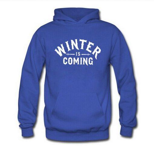 Mens Hoodie Game of Thrones WINTER IS COMING Hoodies Men Fleece Long Sleeve Sweatshirt Pullover Fashion