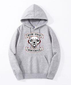 Mens Hoodies Wolf Winterfell Game Of Thrones House Stark Hoody Fashion Casual Fleece Hooded Jackets Jon 2