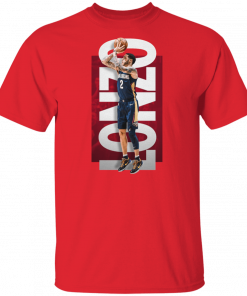 Mens Lonzo Ball 2 New Orleans Pelicans Basketball Red T Shirt S 5Xl