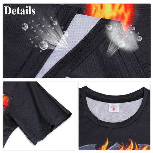 Mens T Shirt Summer Casual O Neck Short Sleeve Tops Tees Cool Dragons Print T shirt 4