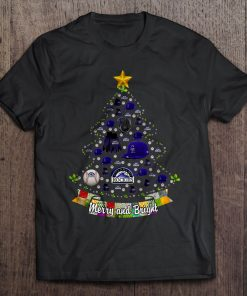 Merry And Bright Colorado Print T Shirt Short Sleeve O Neck Rockies Christmas Tree Tshirts
