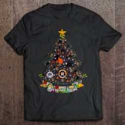 Merry And Bright Houston Streetwear Harajuku 100 Cotton Men S Tshirt Astros Christmas Tree Tshirts