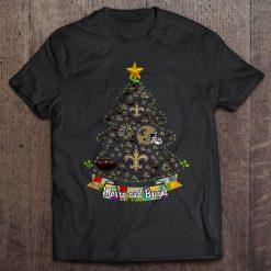Merry And Bright New Streetwear Harajuku Orleans 100 Cotton Men S Tshirt Saints Christmas Tree Tshirts