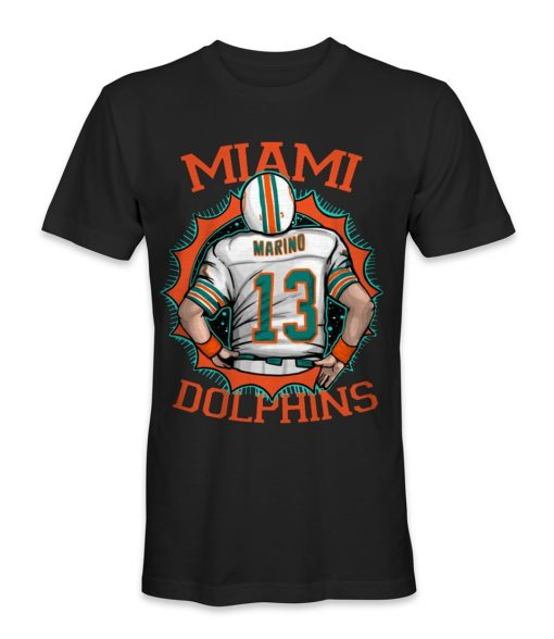 Miami Dolphin Football Team T Shirt Teenage Pop Top Tee Shirt