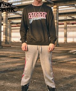 Miami Pullover Sweatshirt Pink Letter Print Men Hip Hop Pullover Sweatshirt Hoodie 2018 Autumn Heat Clothing 3