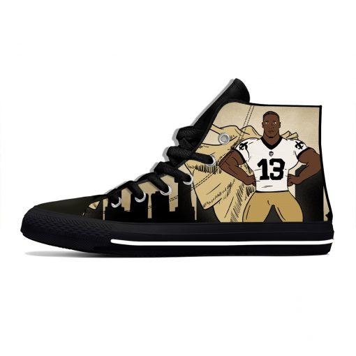 Michael Thomas New Orleans Football Star Fans Fashion Lightweight High Top Canvas Shoes Men Women Casual 4