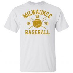 Milwaukee T Shirt Baseball Wisconsin Brewer Retro Men S Tee Shirt Short Sleeve Printing Apparel Tee