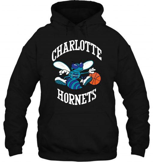 Mitchell Ness Charlotte Hornets Larry Johnson Caricattrad Chahor Roy Streetwear men women Hoodies Sweatshirts scaled