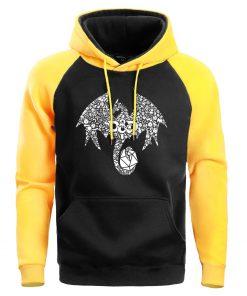 Mosaic Dragon Men Hoodie Sweatshirt Male Game Of Thrones Hoodies Winter Fleece Sweatshirts Warm Pullover Mens 1