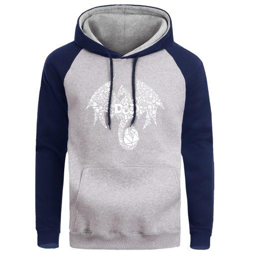 Mosaic Dragon Men Hoodie Sweatshirt Male Game Of Thrones Hoodies Winter Fleece Sweatshirts Warm Pullover Mens 2