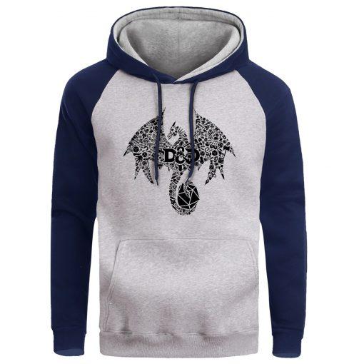 Mosaic Dragon Men Hoodie Sweatshirt Male Game Of Thrones Hoodies Winter Fleece Sweatshirts Warm Pullover Mens 3