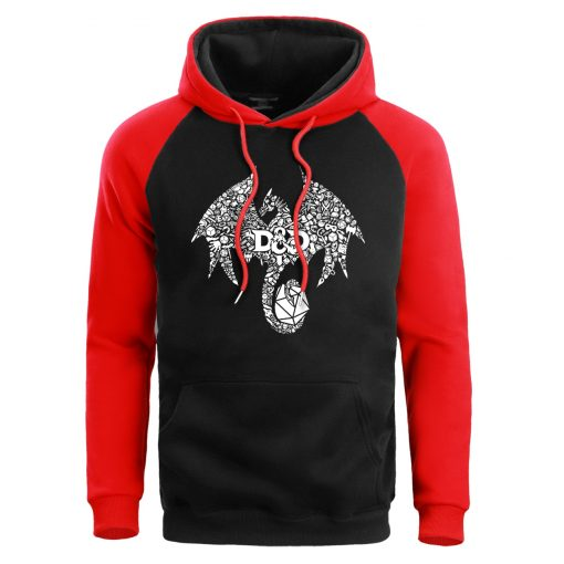 Mosaic Dragon Men Hoodie Sweatshirt Male Game Of Thrones Hoodies Winter Fleece Sweatshirts Warm Pullover Mens
