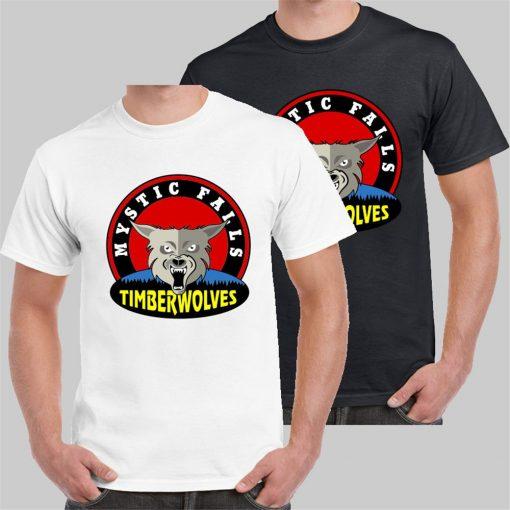 Mystic Falls Timberwolves High School The Vampire Diaries T Shirt Usa Size Unisex Men Women Tee