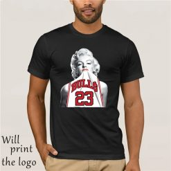 NEW Fashion 3D Print T shirt Hot Marilyn Monroe Bite Chicago Bulls Men