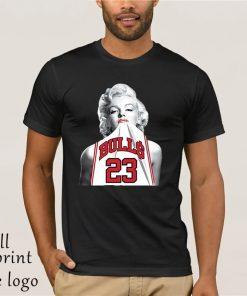 NEW Fashion 3D Print T shirt Hot Marilyn Monroe Bite Chicago Bulls Men