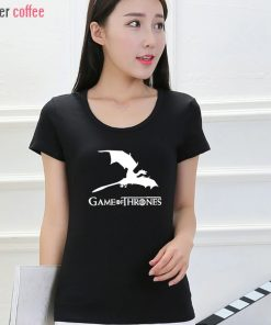 NEW Game of Thrones kawaii harajuku t shirt women cotton short sleeve casual tee shirt femme